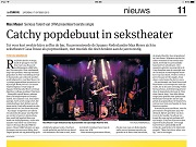 Parool Catchy popdebuut in sekstheater