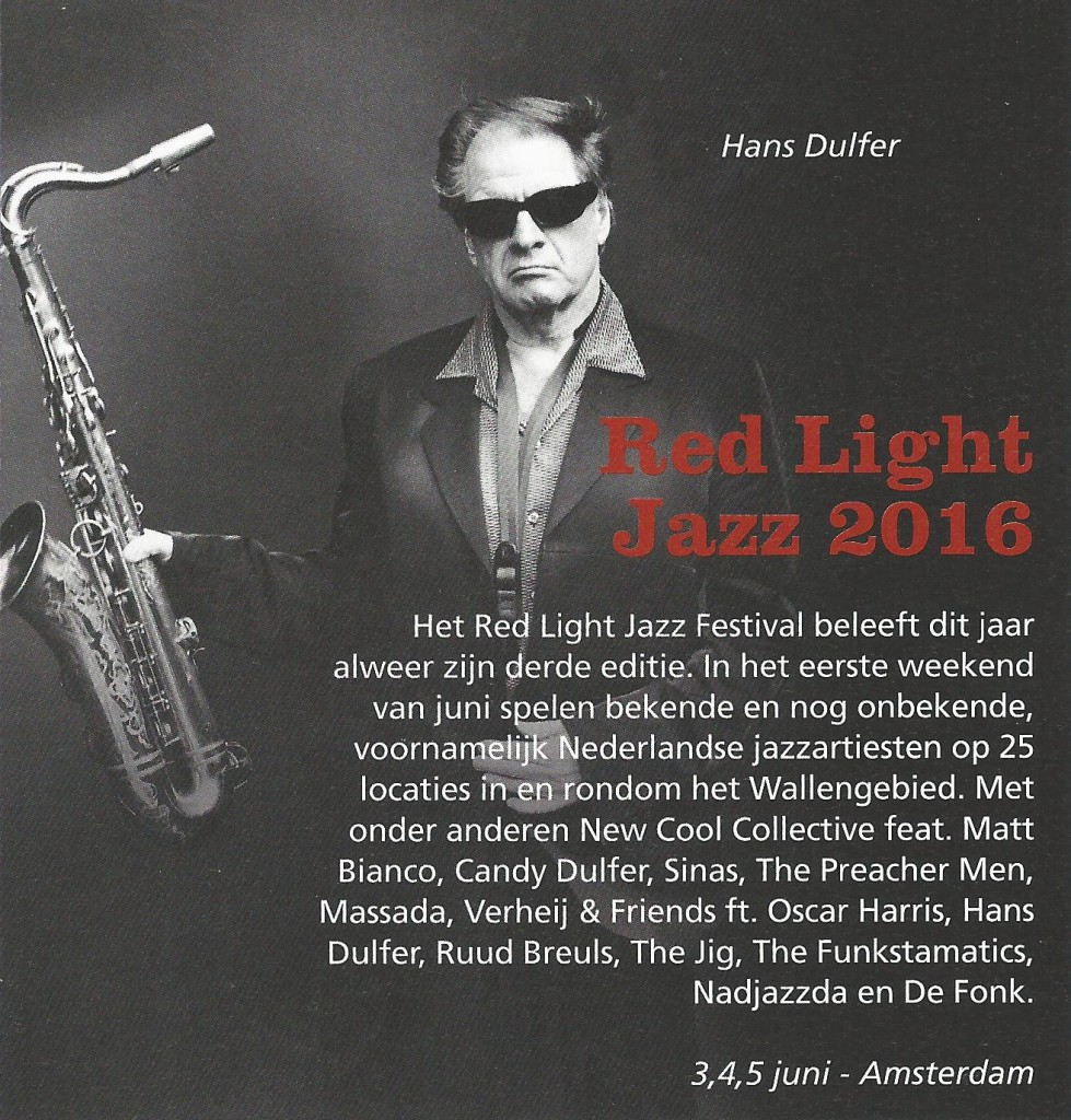 Red Light Jazz 2016 (Jazzism mei-juni 2016)