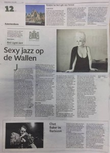 Sexy jazz op de Wallen (Noordhollands Dagblad 2 juli 2015)