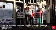 AT5 Prostituees bezetten panden op Wallen vanwege sluiting ramen