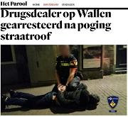 Parool Drugsdealer op Wallen gearresteerd na poging straatroof