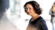 2018-10-27 14:39:18 AMSTERDAM - Femke Halsema bij het Concertgebouw voorafgaand aan de herdenkingsbijeenkomst voor de overleden oud-premier Wim Kok. ANP REMKO DE WAAL