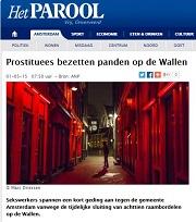 Parool Prostituees bezetten panden op Wallen