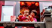2019-02-05 11:28:12 AMSTERDAM - Fo Guang Shan He Hua Tempel tijdens de viering van het Chinees Nieuwjaar.  2019 is het jaar van de varken. ANP ROBIN UTRECHT