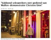 Parool Vakbond sekswerkers niet gediend van Wallen-demonstratie