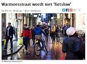 Parool Warmoesstraat wordt niet fietsluw © Maarten Steenvoort