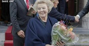Prinses Beatrix bezoekt de Wallen